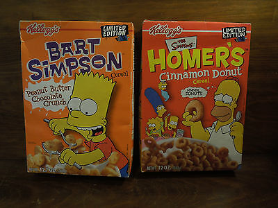The Simpsons Homer's Cinnamon Donut and Bart Simpson Cereal by Kellogg's