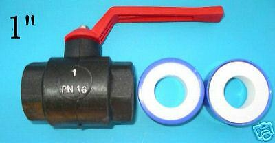 "1"" (25mm) Poly Pipe Ball Valve w/-Brass ball (1 pk)"