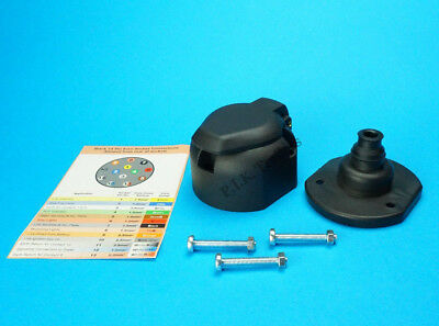 13 Pin Socket & Rear Gasket Seal for Towing Caravans & Trailers