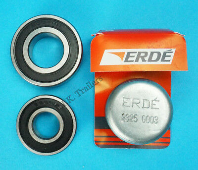 1 x Wheel Bearing & Dust Cap for Daxara Trailer 107 127 Erde 101 102 121 122 131