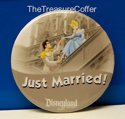 Disneyland Button ~ Just Married ~ Limited Edition VHTF NEW