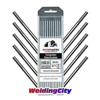 "10-pk TIG Welding Tungsten Electrode 2% Ceriated (Gray) .040""-1/16"" 
