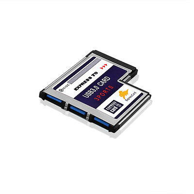 Laptop 54mm Express Card ExpressCard to 3 Port USB 3.0 Adapter Superspeed 5G