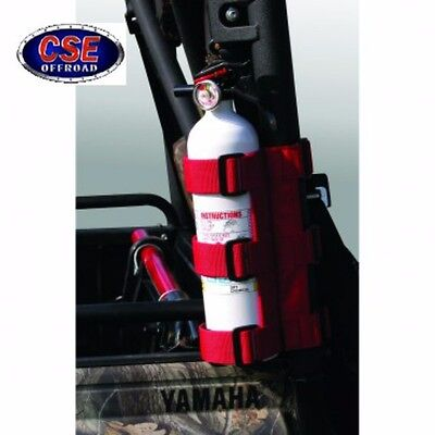 "ATV UTV Fire Extinguisher Holder Bracket 1""-1.5"" 63305.20 Rugged Ridge Red"