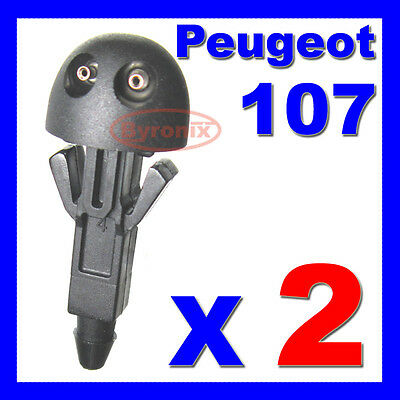 Peugeot 107 Front Windscreen Washer Jets Nozzle X 2