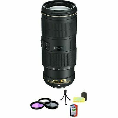 Nikon Nikkor AF-S 70-200mm F/4 VR Lens + UV Filter Kit & Cleaning Kit