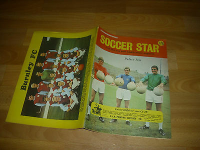 SOCCER Star Magazine BURNLEY & Palace Trio cover pictures 30/08/68