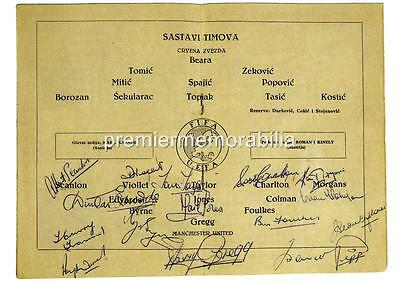 MANCHESTER UNITED FC BUSBY BABES SIGNED (PRINTED)x15 DUNCAN EDWARDS TOMMY TAYLOR