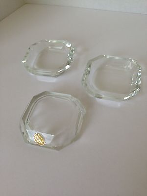 West German Crystal Salts, set of 3
