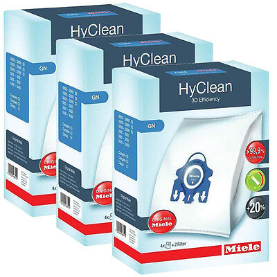 Genuine MIELE GN HyClean Replacement Hoover Vacuum Cleaner DUST BAGS - 3 Packs