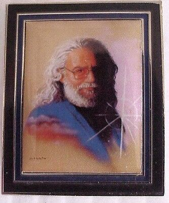 JERRY GARCIA MEMORIAL PORTRAIT AUGUST, 1995 RELIX GRATEFUL DEAD 2 inch PIN