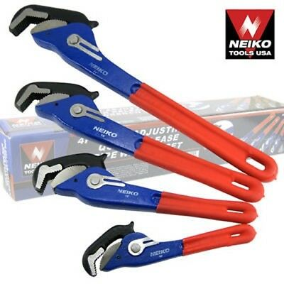 4pc Self-Adjusting Quick Release Pipe Wrench Industrial Grade Construction Tools