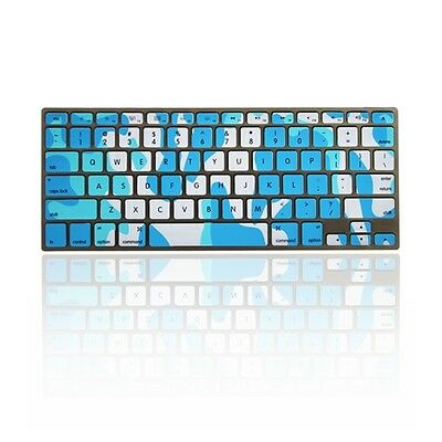 "Camouflage Blue Silicone Keyboard Cover Skin for Apple Macbook 13"" 15"" 17"""