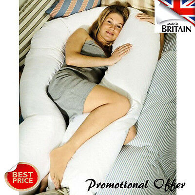 New Maternity Pregnancy COMFORT U/ V Pillow and/ or Case -  6Ft/ 9Ft/ 12 Ft