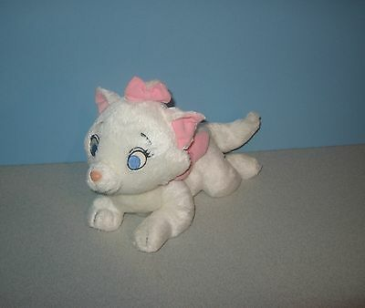 "Disney Store Aristocats Marie Most Beloved 10"" Bean Stuffed Plush w/ Pink Bow"