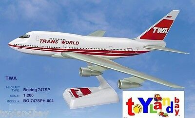 Flight Miniatures TWA Trans World Airlines OLD 1974 Boeing 747SP 1:200 Scale Mt