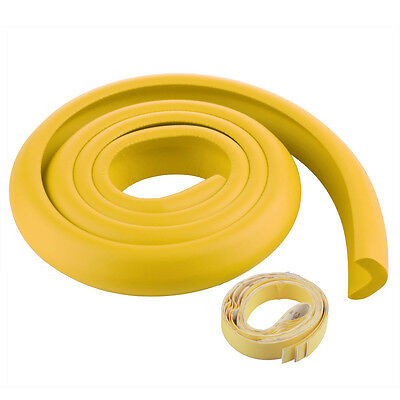 2M Baby Safty Soft Table Edge Corner Safety Guard Protector Cushion Light Yellow