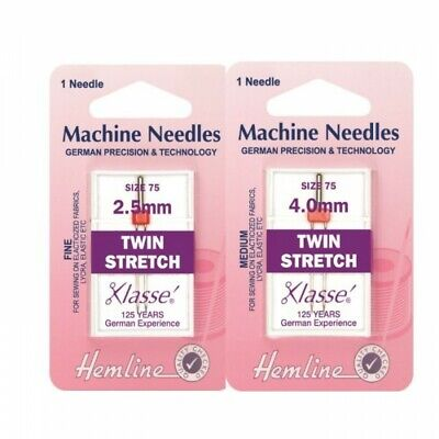 Hemline Twin Stretch Sewing Machine Needles Klasse