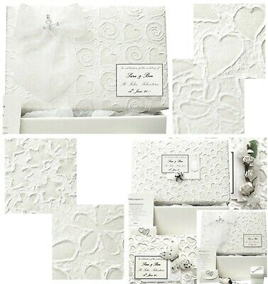 LARGE Wedding Keepsake Box PERSONALISED 6 Mulberry Designs/5 Motifs in 3 Colours