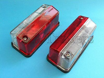 FREE P&P* 2 x Outline Marker Lamp Lights Red & Clear for Horsebox & Trailers