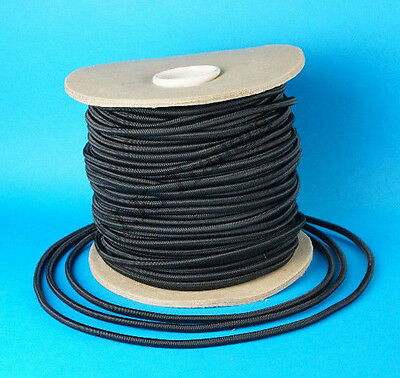 5 Metres of 6mm BLACK Elastic Bungee Shock Cord Rope Tie Down for Trailer Covers