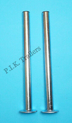 Pair of 34mm x 450mm Prop Stands - Standard Duty - Trailer Corner Steady