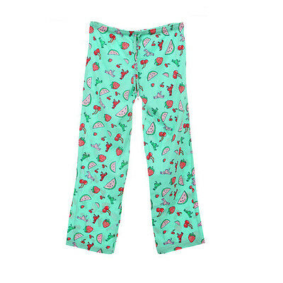 Peace Frogs Fruit X-Small Adult Pj Bottoms