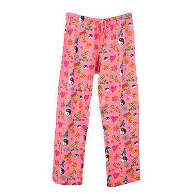 Peace Frogs Peace Symbol Small  Adult Pj Bottoms
