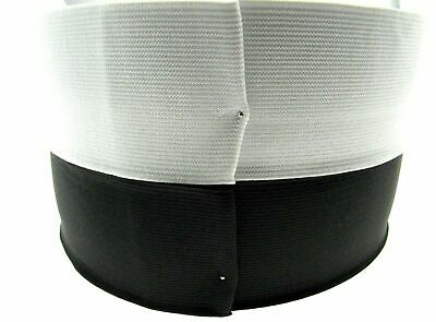 VERY BEST FLAT WOVEN ELASTIC in BLACK or WHITE