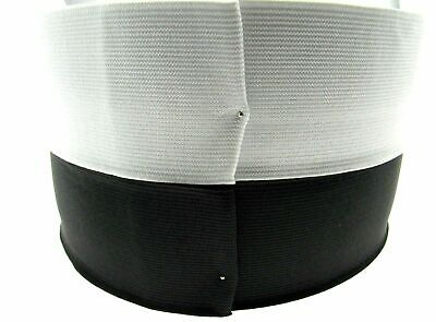 VERY BEST FLAT WOVEN ELASTIC in Black or White - FAST & FREE UK P&P