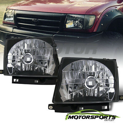 For 1997 1998 1999 2000 Toyota Tacoma Euro Style Black Headlights Pair