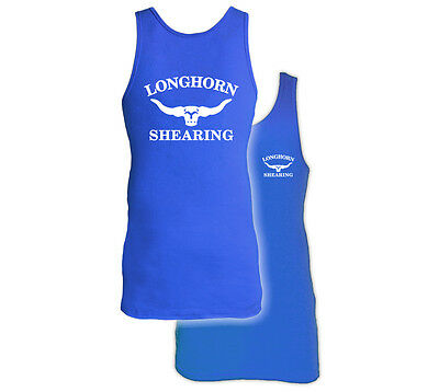 Extra Long  Longhorn Sheep Shearing Singlet Vest From Horner Shearing
