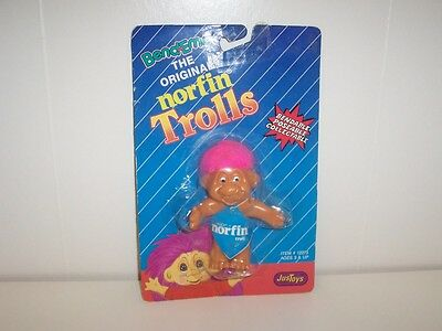 Bend Ems Norfirn Trolls Troll Doll 12273 with Hot Pink Hair Just Toys 1992 New