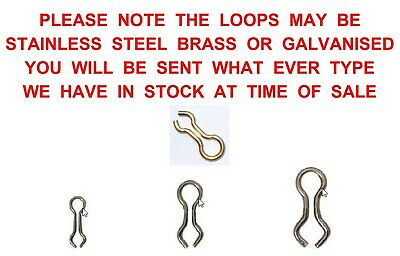 Stainless Steel Do It Loops Lead Weight Mould Eyes 25 50 100 500 1000 Size 1 2 3