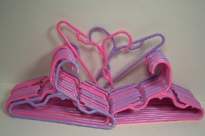 12 LAVENDER-PINK Doll Clothes Hanger (6 of each color) For American Girl (Debs)