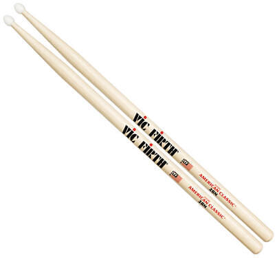 Vic Firth American Classic 2B Drum Sticks - Wood or Nylon Tip