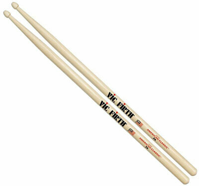 Vic Firth American Classic 7A Drum Sticks - Wood or Nylon Tip