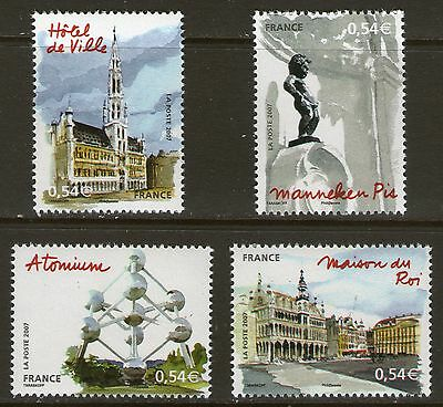 Serie Timbres 4073-4076 Neuf Xx Luxe - Bruxelles Capitale Europeenne