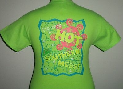 American Girl womens hot southern mess neon t-shirt for sassy frass girlie girl