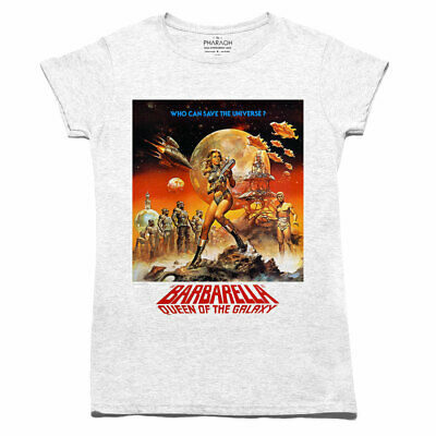 LADIES RETRO BARBARELLA MOVIE POSTER T SHIRT (SIZE 8 - 20) Classic Girls Womens