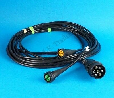ASPOCK Quick-Fit Wiring Harness Loom 2 x 5 Pin to 7 Pin 12N Plug  5 metres