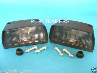 2 x AJBA Licence Number Plate Lamp Light for Erde & Daxara Trailer LT18