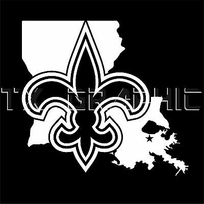 New Orleans Saints Sticker  Louisiana State La Vinyl Decal  Fleur De Lis