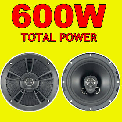 BOSS 500W TOTAL 2WAY 6.5 INCH 16.5cm CAR DOOR/SHELF COAXIAL SPEAKERS RED PAIR