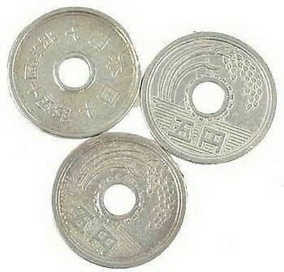 SET OF 3 x  CHINESE COINS 20 mm Wicca Witch Reiki Pagan Goth Reiki New Age Yoga