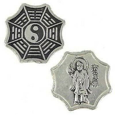 1 x I CHING COIN 25 mm Wicca Witch Reiki Pagan Goth Reiki New Age Yoga Buddha
