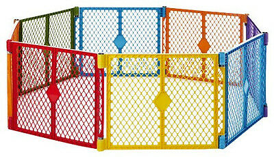 New! North State Superyard Xt Baby Gate Play Yard Pet Colorplay Pen 8 Panel