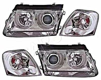 FITS 97-01 VW Passat Chrome Headlights Corner Left Right B5