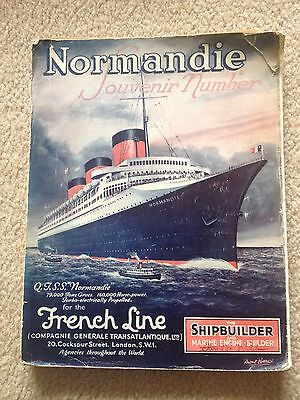 "Ss Normandie- ""shipbuilder"" -Souvenir Number- Soft Cover-June 1935-Many Photos"