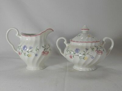 Johnson Brothers Summer Chintz Creamer and Sugar Bowl with Lid Set
